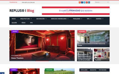Screenshot of Blog replus.com.ar - REPLUS® I Blog - captured Oct. 26, 2014