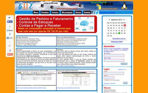 Screenshot of Home Page giietecnologia.com.br - GIIE Tecnologia - Soluções em Tecnologia da Informação - captured Sept. 26, 2014