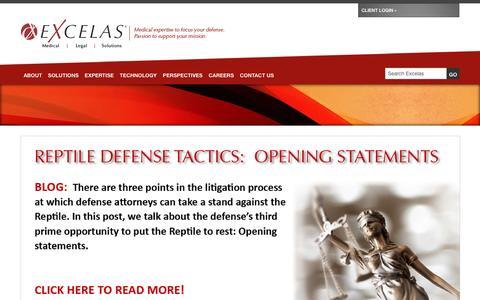 Screenshot of Home Page excelas1.com - Medical Legal Solutions    Excelas - captured Nov. 11, 2016