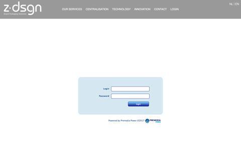 Screenshot of Login Page zdsgn.com - ZDSGN - Brand packaging solutions - captured Nov. 13, 2017