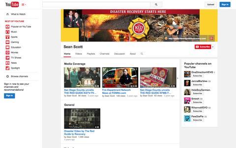 Screenshot of YouTube Page youtube.com - Sean Scott  - YouTube - captured Oct. 25, 2014