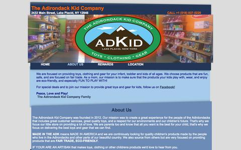Screenshot of About Page adirondackid.com captured Oct. 26, 2014