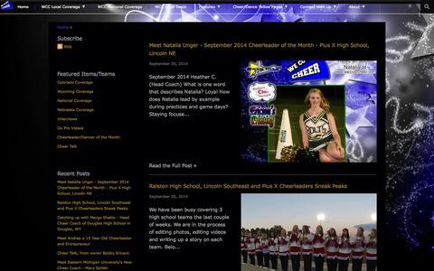 Screenshot of Blog wecovercheer.com - We Cover Cheer | Blog - captured Sept. 30, 2014