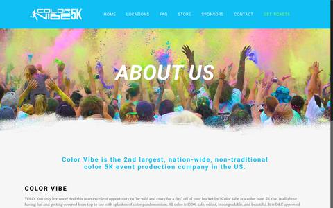 Screenshot of About Page thecolorvibe.com - Color Vibe - About Us - captured June 21, 2017
