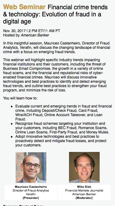 Financial crime trends & technology: Evolution of fraud in a digital age Web Seminar