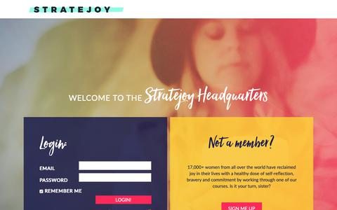 Screenshot of Login Page stratejoy.com - Login Page - Stratejoy - captured Nov. 17, 2018