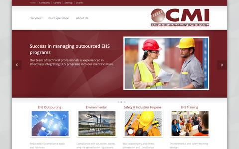 Screenshot of Home Page complianceplace.com - Compliance Management International | EHS Consulting - captured Nov. 10, 2016