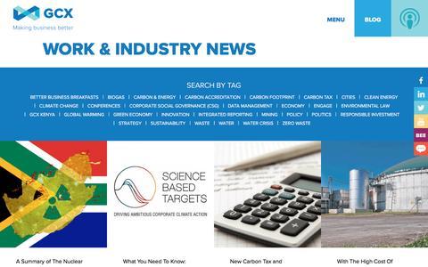 Screenshot of Blog gcx.co.za - Work & Industry News | GCX - captured May 12, 2017