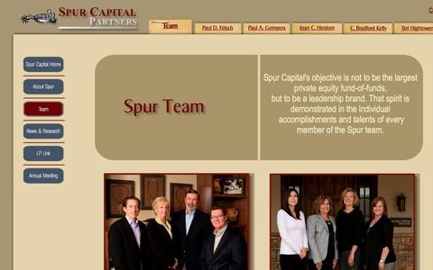 Screenshot of Team Page spurcapital.com - Team - captured Oct. 24, 2017