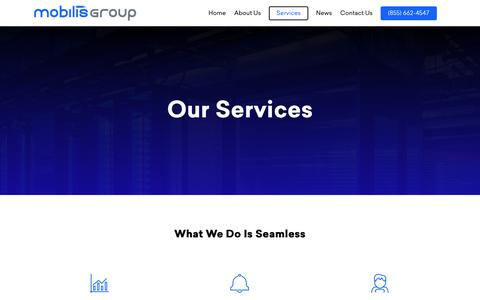 Screenshot of Services Page mobilisgroup.com - Services – Mobilis Group - captured Oct. 19, 2018