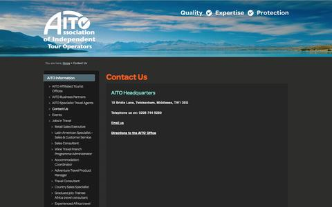 Screenshot of Contact Page aito.com - Contact Us - captured Sept. 23, 2014
