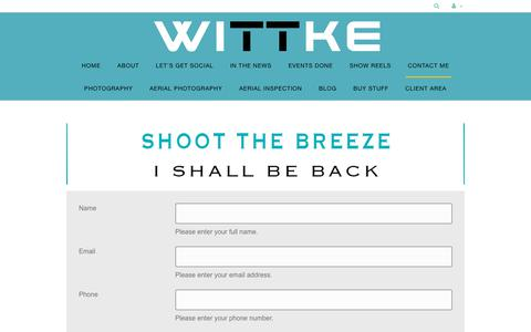 Screenshot of Contact Page wittke.com.au - Contact Me - Wittke - captured Sept. 24, 2018