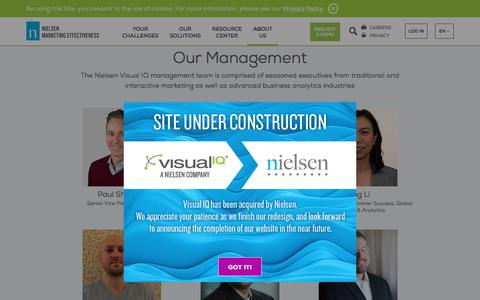 Screenshot of Team Page visualiq.com - Visual IQ Management Team - captured July 23, 2019