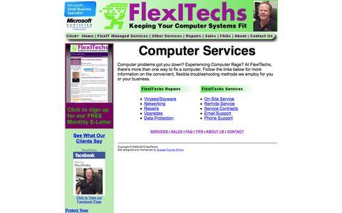 Screenshot of Services Page flexitechs.com - Delaware Computer Services -- FlexITechs - captured Jan. 8, 2016