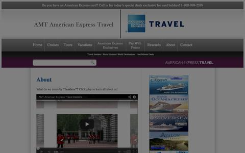 Screenshot of About Page amttravel.com - About AMT, an American Express Travel Representative, a Full Service Travel Agency - captured Oct. 4, 2014