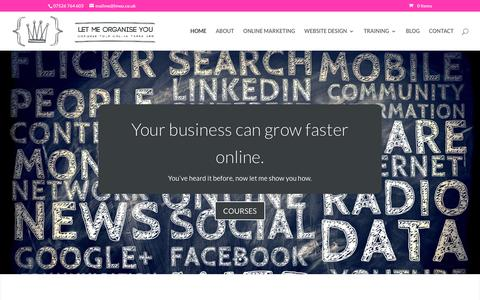 Screenshot of Home Page letmeorganiseyou.co.uk - Let Me Organise You | Bespoke Online Marketing for YOU - captured July 18, 2018