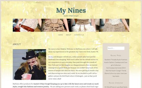 Screenshot of About Page mynines.com - About | My Nines - captured July 3, 2015