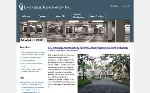 Screenshot of Press Page er-inc.net - Engineered Restorations, Inc. : News & Insights | Engineered Restorations, Inc. - captured Jan. 19, 2018