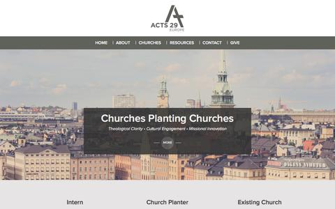 Screenshot of Home Page acts29europe.com - :: Acts 29 Europe Home - Acts 29 Europe :: - captured Sept. 30, 2014