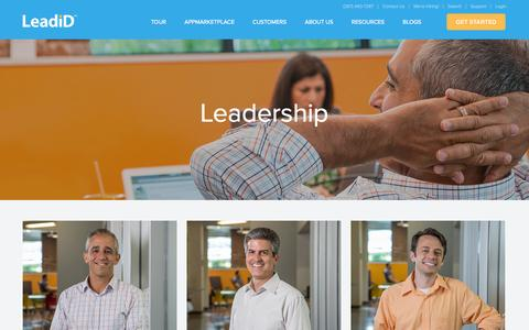 Screenshot of Team Page leadid.com - Executive Leadership | Management | LeadiD - captured Oct. 28, 2014
