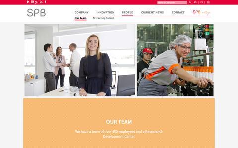 Screenshot of Team Page spb.es - SPB - captured Dec. 1, 2016