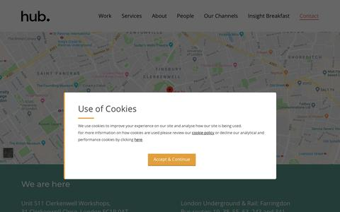 Screenshot of Contact Page hub.tv - Contact   Hub - captured Nov. 11, 2018