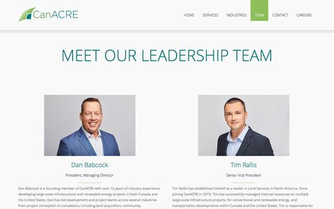 Screenshot of Team Page canacre.com - Team - CanACRE - captured July 15, 2018