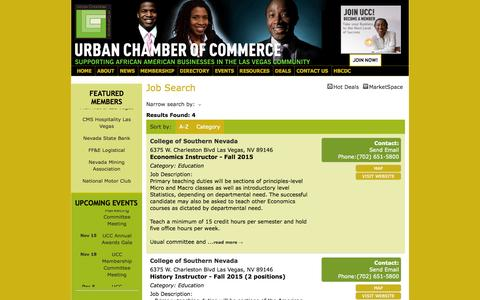 Screenshot of Jobs Page urbanchamber.org - Job Search - Urban Chamber of Commerce - captured Oct. 26, 2014