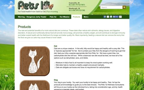 Screenshot of Products Page pets-1st.com - Products | Pets 1st - captured Oct. 2, 2014