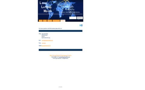 Screenshot of Contact Page legallateralmoves.com - Contact Us - Legal Lateral Moves - captured Sept. 29, 2014