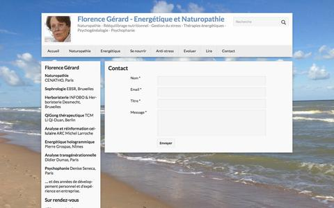 Screenshot of Contact Page florencegerard.net - Florence Gérard - Energétique et Naturopathie - captured Oct. 14, 2017