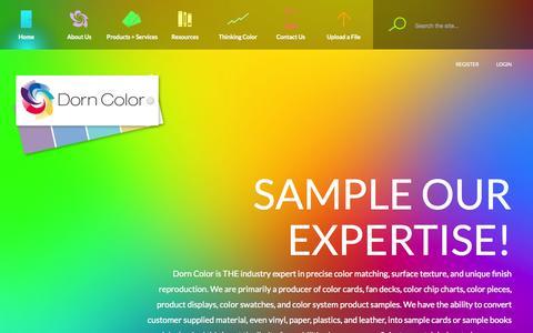 Screenshot of Home Page dorncolor.com - Color samples in Cleveland OH Dorn Color - captured Oct. 6, 2014