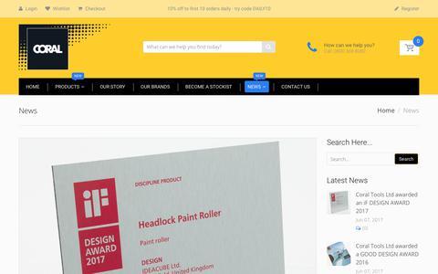 Screenshot of Press Page coral-tools.com - News – Coral Tools Ltd - captured Aug. 29, 2017