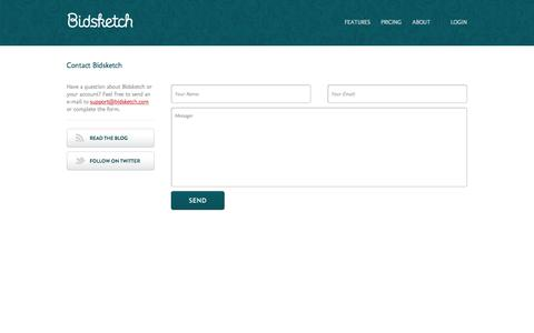Screenshot of bidsketch.com - Contact | Bidsketch Proposal Software - captured Oct. 2, 2015