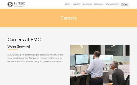 Screenshot of Jobs Page emcllc.com - Careers :: Energy Management Collaborative, LLC - captured Nov. 6, 2018