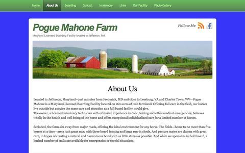 Screenshot of About Page poguemahonefarm.com - About Us | Pogue Mahone Farm - captured Sept. 30, 2014
