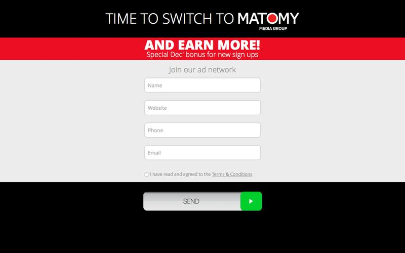 Join the Matomy Publisher Network!