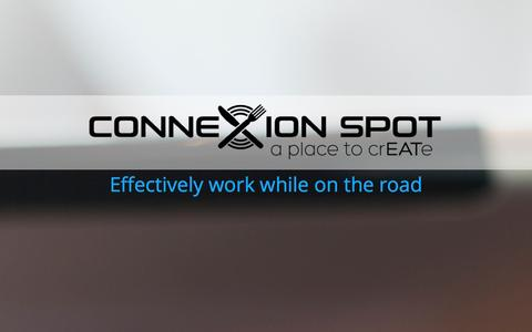Screenshot of Home Page Contact Page connexionspot.com - Home   Connexion SpotConnexion Spot   a place to crEATe - captured Sept. 30, 2014