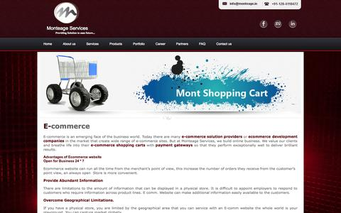Screenshot of Products Page monteage.in - E-commerce company Ghaziabad | E-commerce web developers | E-commerce - captured Oct. 26, 2014