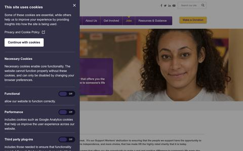 Screenshot of Jobs Page hft.org.uk - Hft | Careers | Jobs | Learning disability support - captured July 16, 2018