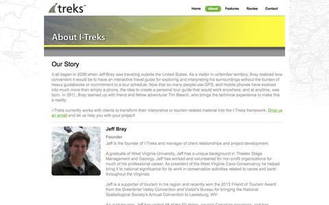 Screenshot of About Page i-treks.com - About I-Treks - captured Oct. 3, 2014