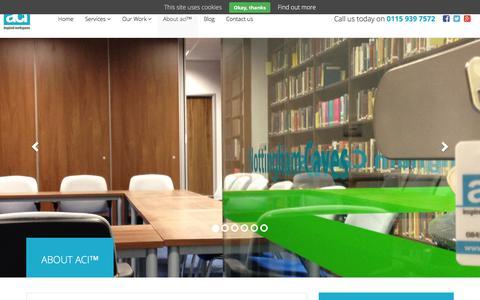 Screenshot of About Page aci.uk.net - About aci� (Advanced Commercial Interiors Ltd) - captured Dec. 28, 2015
