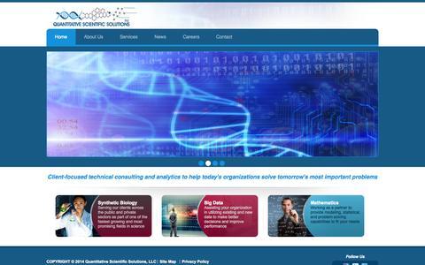 Screenshot of Home Page qs-2.com - Scientific & Technical Consulting | Big Data Analytics | QS-2.com - captured Oct. 3, 2014