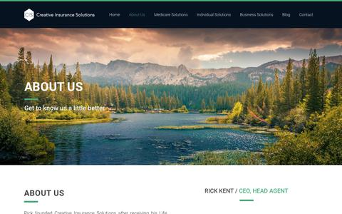 Screenshot of About Page scorecis.com - Learn more about Creative Insurance Solutions - captured Sept. 30, 2018