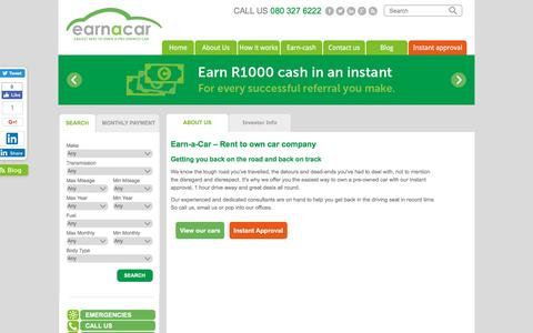 Earn-a-Car - Rent to Own car company for blacklisted people | Earn a Car