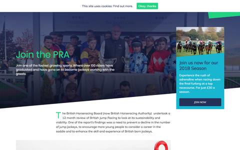 Screenshot of About Page ponyracingauthority.co.uk - Join the PRA - The Pony Racing Authority - captured Feb. 19, 2018