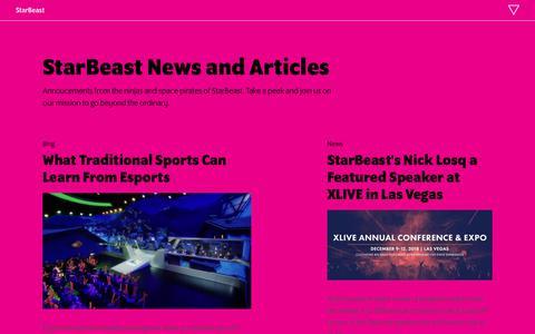 Screenshot of Press Page star-beast.com captured Oct. 20, 2018