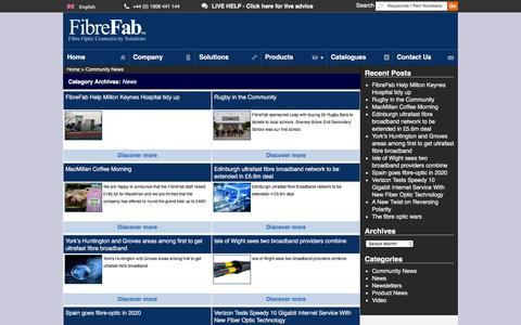Screenshot of Press Page fibrefab.com - News Archives - FibreFab Ltd - captured Jan. 8, 2016