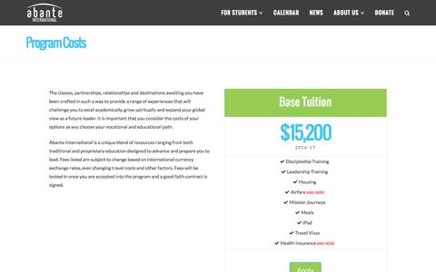 Program Costs - Abante International