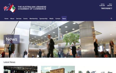 Screenshot of Press Page alcc.com.au - News - The Australian Lebanese Chamber of Commerce - captured Oct. 26, 2014